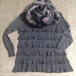 Lightweight J Crew ruffle sweater
